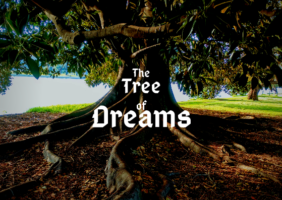 The Tree of Dreams photo with text